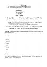 English Worksheets: Kennings
