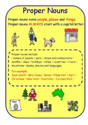 Grammar worksheets > Nouns > Common and proper nouns