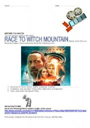 English Worksheet: RACE TO WITCH MOUNTAIN ACTIVITIES