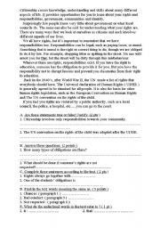 English Worksheet: citizenship