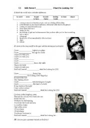English Worksheets: U2 Still Haven´t Found What I´m Looking For