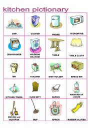 Kitchen Furniture Pictionary (Part C) - ESL worksheet by fede117