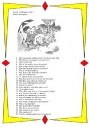 English Worksheets: Trinity 3 oral practice
