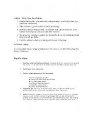 English Worksheets: Eulogy