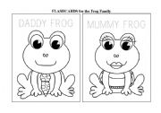The family frog - FLASHCARDS (to be coloured)