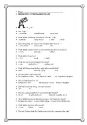 English Worksheet: TEST ON ´THE HOUND OF THE BASKERVILLES´