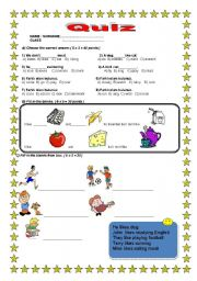 English Worksheet: A NICE QUIZ FOR PRIMARY SCHOOL