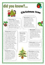 English Worksheet: Did you know... Christmas tree
