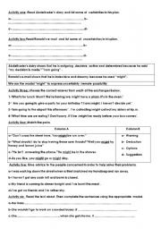 English Worksheets: The modal might