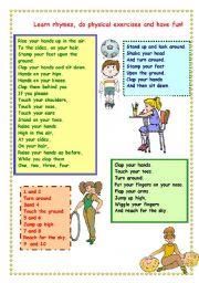 English Worksheet: rhymes for children