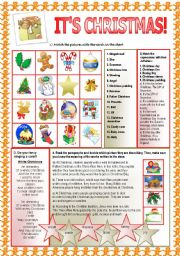 English Worksheets: It�s Christmas!