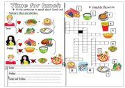 English Worksheet: food: Likes and dislikes