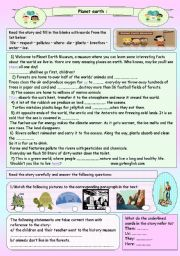 English Worksheet: planet earth