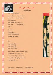 English Worksheets: Song Every Breath you take