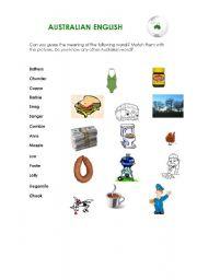 English Worksheets: Australian English
