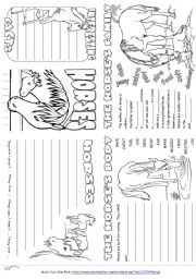 English Worksheets: Writing Prompt Mini Book about Horses