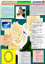 English Worksheets: WHAT A WONDERFUL WORLD - LOUIS ARMSTRONG - PART 01