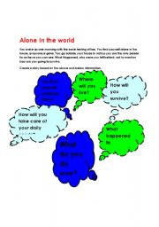 English Worksheets: Alone in the world