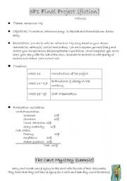 English Worksheets: Grd 3 Fiction Writing