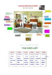 English worksheet: Crossword- Vocabulary bedroom furniture