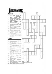 Modal auxiliaries Crossword