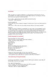 English Worksheets: Presentation skill