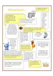 English Worksheets: Did you know...