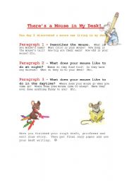 English Worksheets: Mouse Writing activity