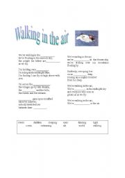 English Worksheet: The snowman: Walking in the air