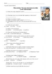 English Worksheets: Movie activity: The man who knew too little