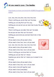 all you need it love lyrics