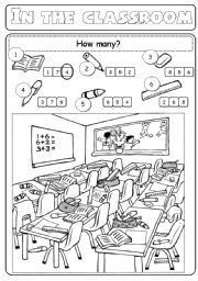 English Worksheets: in the classroom (2/2)