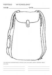 English Worksheets: MY SCHOOLBAG
