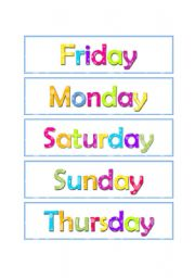Days of the week - ESL worksheet by maz7