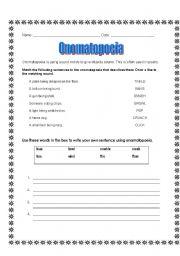 Englishlinx.com | Onomatopoeia Worksheets