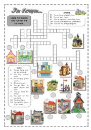 English Worksheets: IN TOWN