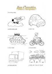 means of transportation esl worksheet by leticiaa. Black Bedroom Furniture Sets. Home Design Ideas