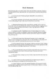 Essay elaboration