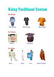 English Worksheets: Malaysian Traditional Custom