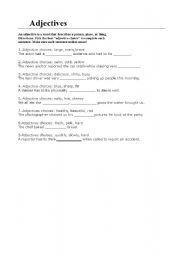 English Worksheets: adjectives-occupations