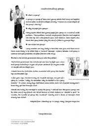 English Worksheets: understanding gangs