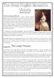 English Worksheet: Queen Victoria (3rd part of history series - 5 pages)