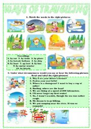 English Worksheets: WAYS OF TRAVELLING