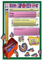 English Worksheets: Reading Comprehension Report