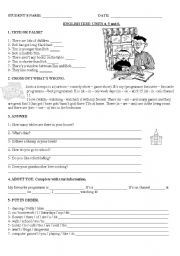 English Worksheet: OUP Happy street 2 test: Units 4, 5 and 6.  Integration of topics and structures