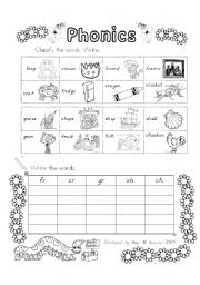 Printables Phonics Practice Worksheets english teaching worksheets phonics practice blinds fr cr gr sh ch