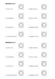 La Hora Worksheets for Pinterest