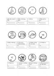 English Worksheets: False circles