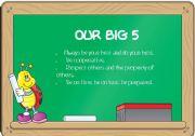 English Worksheet: OUR BIG 5 CLASSROOM POSTER. EDITABLE!