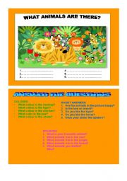 English Worksheets: WHAT ANIMALS ARE THERE